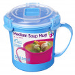 Bögre Sistema Microwave Medium Soup Mug kék