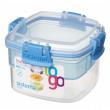 Box na potraviny Sistema Snacks TO GO 400ml kék
