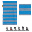 Sál Sensor Tube Merino Wool szürke/csíkos modrá pruhy