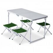 Szett Pinguin Furniture (Asztal + 4 Szék) zöld