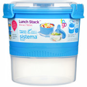 Ételtároló doboz Sistema Round Lunch Stack TO GO 965ml kék