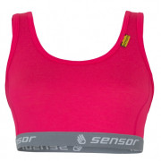Melltartó Sensor Merino Active rózsaszín magenta