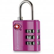 Számzáras lakat Lifeventure TSA Combi Lock rózsaszín Pink