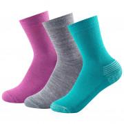 Gyerek zokni Devold Daily medium Kid Sock 3pk rózsaszín
