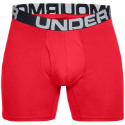 Férfi boxer Under Armour Charged Cotton 6in 3 Pack piros