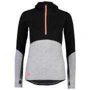 Női pulóver Mons Royale Bella Tech Hood fekete/szürke