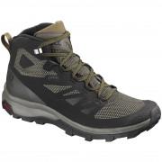 Férfi cipő Salomon Outline Mid GTX® fekete Black/beluga/capers