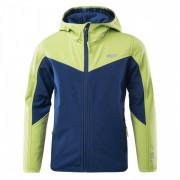 Gyerek softshell kabát Bejo Lanny II Kdb kék/zöld