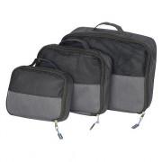 Cestovní organizér Bo-Camp Travel Pack Cubes 3 velikosti fekete