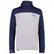 Férfi pulóver Mons Royale Yotei Powder Hood LS kék/szürke