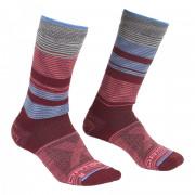 Zokni Ortovox All Mountain Mid Socks Warm W burgundi vörös