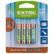 Alkáli elem AAA Extol Ultra+ 4db