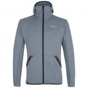 Férfi pulóver Salewa Solid Logo Dry M FZ HDY szürke/fekete