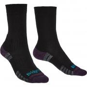 Női zokni Bridgedale Hike LW MP Boot fekete/lila black/purple 016