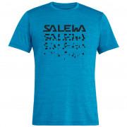 Pánské triko Salewa Puez Hybrid 2 Dry M S/S Tee kék
