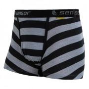Boxeralsó Sensor Merino Wool Active fekete csík fekete/szürke černé pruhy