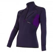 Női pulóver Sensor Tecnostretch zip lila lila