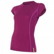 Női póló Sensor Merino Wool Active r. ujjú lila lila