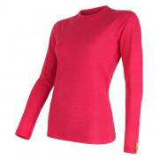 Női póló Sensor Merino Wool Active h. ujjú rózsaszín magenta