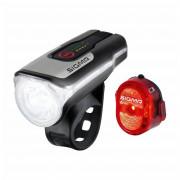 Kerékpátr lámpa szett Sigma Aura 80 USB + Nugget II.