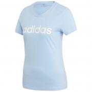 Női póló Adidas Essentials Linear Slim világoskék