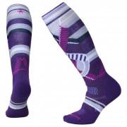 Női térdzokni Smartwool Phd Ski Medium Pattern Women`s lila mountain purple