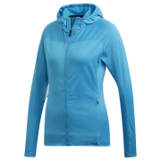 Női pulóver Adidas Trace Rocker Hooded Fleece kék