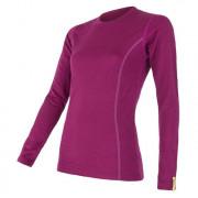 Női póló Sensor Merino Wool Active h. ujjú lila lilla