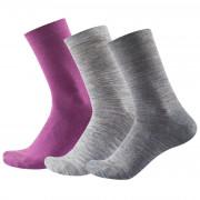 Női zokni Devold Daily Light Woman Sock 3PK rózsaszín Anemone mix
