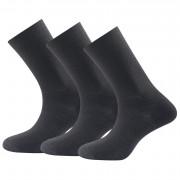 Zokni Devold Daily medium light sock blk 3pk fekete