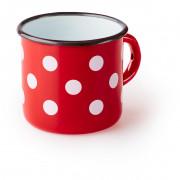 Csésze Zulu piros bögre fehér pöttyökkel