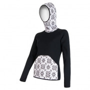 Női pulóver Sensor Tecnostretch fekete kapucnis fekete