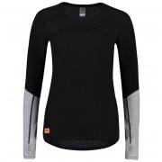 Női funkciós póló Mons Royale Bella Tech LS fekete/szürke