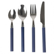 Evőeszköz Bo-Camp Cutlery szett 4-darab 1 főre kék
