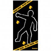 Gyorsan száradó törülköző Towee Crime Scene 80x160 cm fekete/sárga