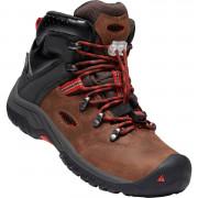 Gyerek cipő Keen Torino II MID WP Y barna TORTOISE SHELL/FIREY RED