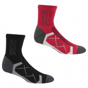 Női zokni Regatta Ladies 2pk Sock fekete/piros