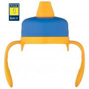 Ivócsőrös kupak Thermos Foogo - puha kék/sárga