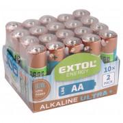 Alkáli elem AA Extol Light 20 db