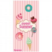 Gyorsan száradó törülköző Towee Sweet Summer 80x160 cm rózsaszín