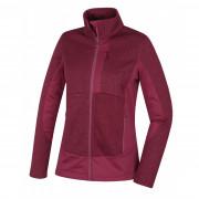 Női fleece pulóver Husky Alan L burgundi vörös vínová