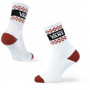Női zokni Vans Wm Girl Gang Crew 6.5-10 1Pk fehér/piros