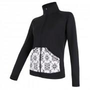 Női pulóver Sensor Tecnostretch Pattern fekete fekete