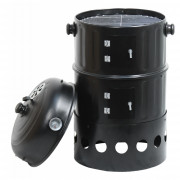 Grill  - faszenes füstölő Cattara Pisa 3in1 40cm fekete