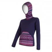 Női pulóver Sensor Tecnostretch lila kapucnis lila