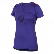 Női funkciós póló Husky Merino 100 - r. ujjú Puppy lila