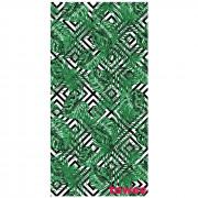 Gyorsan száradó törülköző Towee Monstera 80x160 cm fehér/zöld