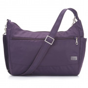 Női táska biztonsági zárral Pacsafe Citysafe CS200 lila