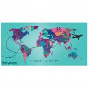 Gyorsan száradó törülköző Towee Travel The World 80x160 cm kevert színek