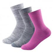 Női zokni Devold Daily medium sock 3PK kevert színek anemone mix